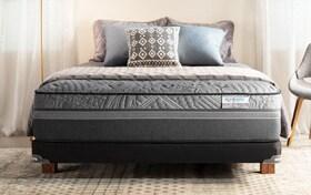 Bob-O-Pedic Hybrid Radiance Queen Firm Low Profile Mattress Set