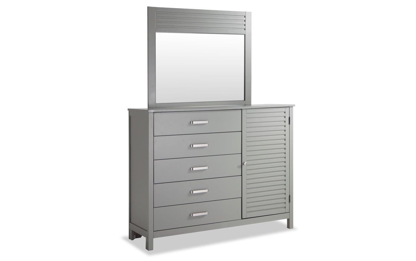 Dalton Twin Gray Storage Bedroom Set