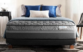 Bob-O-Pedic Hybrid Radiance Split Queen Extra Firm Low Profile Mattress Set