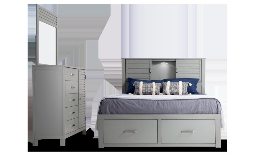Dalton King Gray Storage Bedroom Set