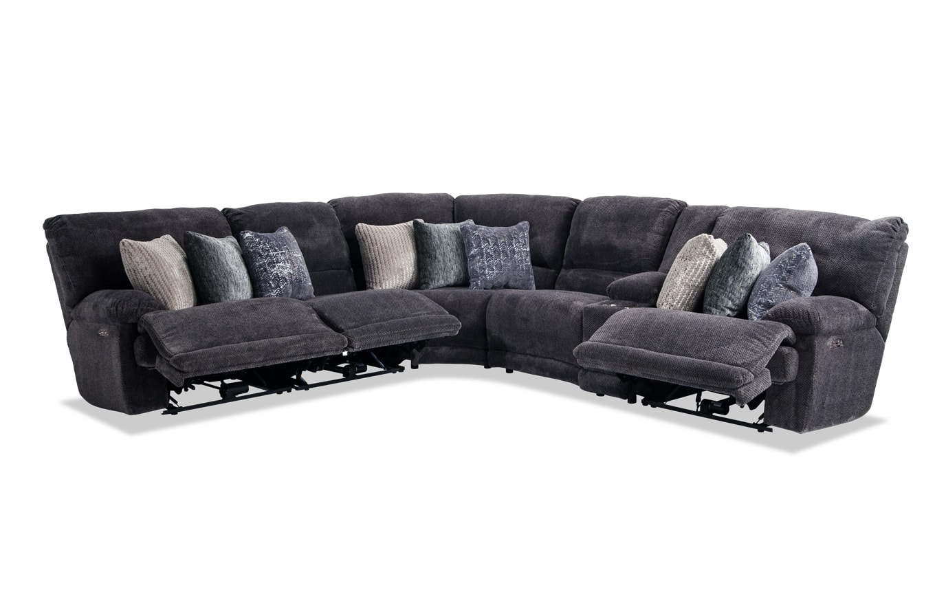 Alpine 6 Piece Power Reclining Sectional
