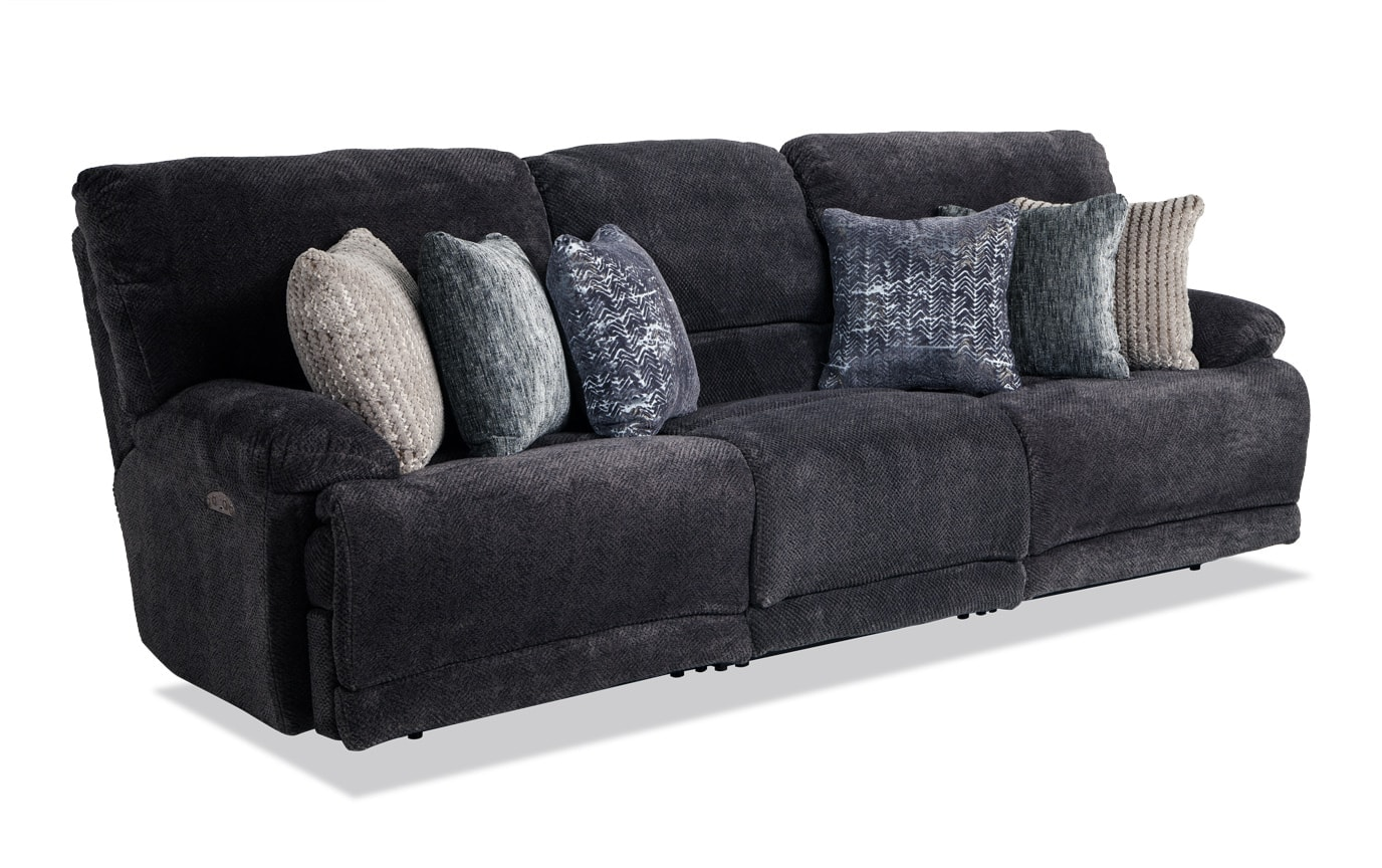 Alpine Triple Power Reclining Sofa