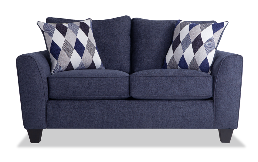 Capri Denim Loveseat Bobs Com