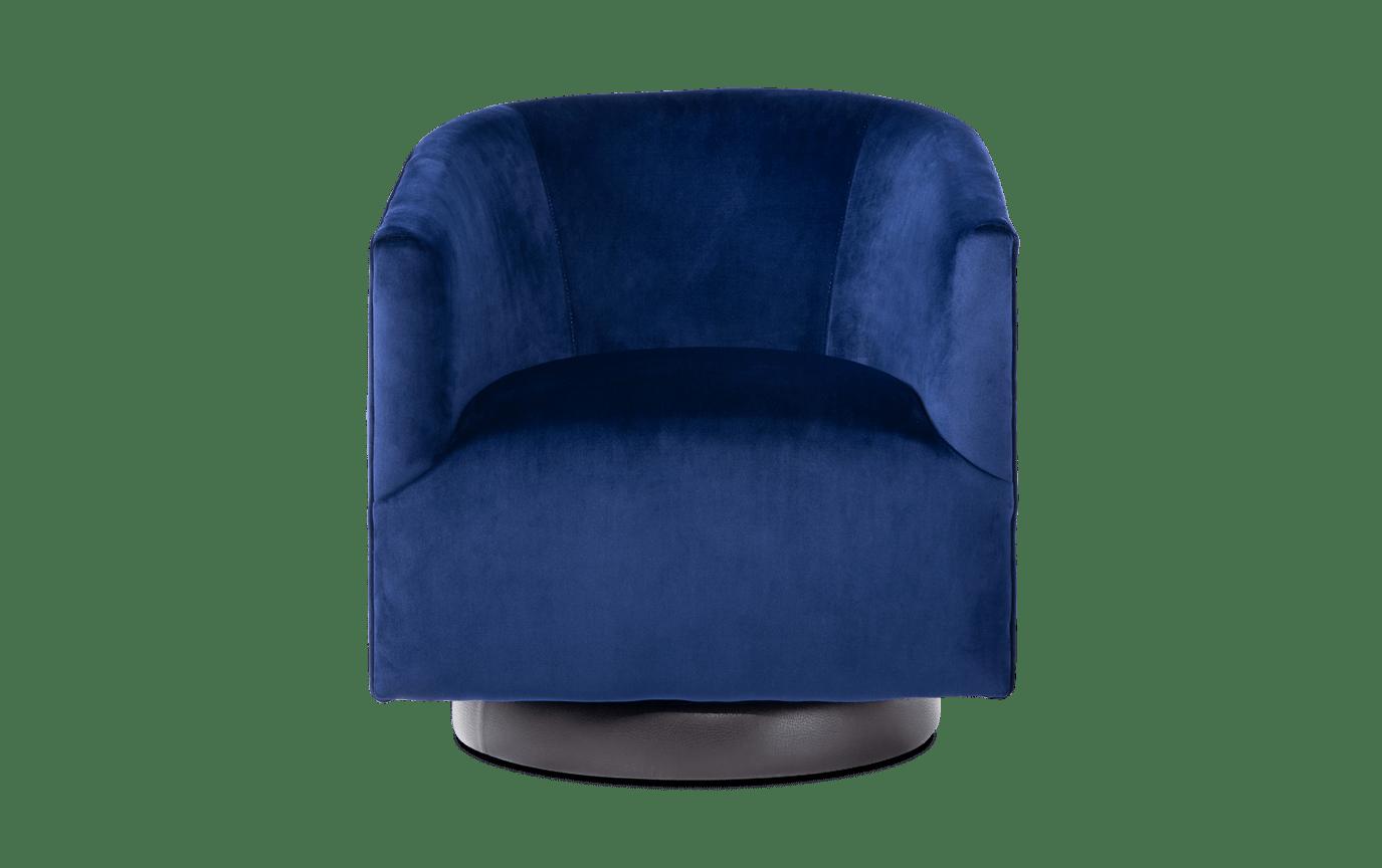 Keaton Navy Swivel Chair
