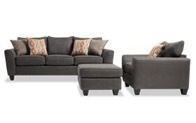 Capri Graphite Sofa, Chair & Ottoman