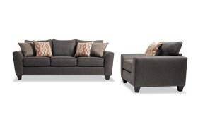 Capri Graphite Sofa & Chair