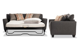 Capri Graphite Bob-O-Pedic Sleeper & Loveseat