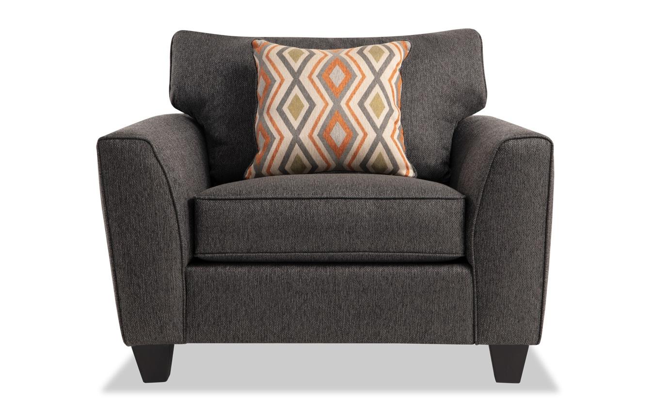 Capri Graphite Bob-O-Pedic Sleeper, Chair & Ottoman