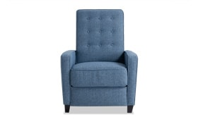 Maisie Blue Push Back Recliner