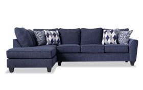 Capri Denim Right Arm Facing Sectional