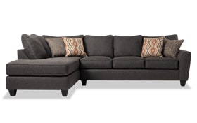 Capri Graphite Right Arm Facing Sectional