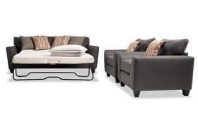 Capri Graphite Bob-O-Pedic Sleeper & 2 Chairs
