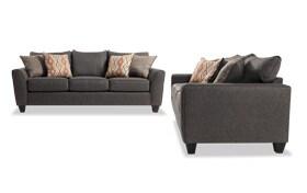 Capri Graphite Sofa Set