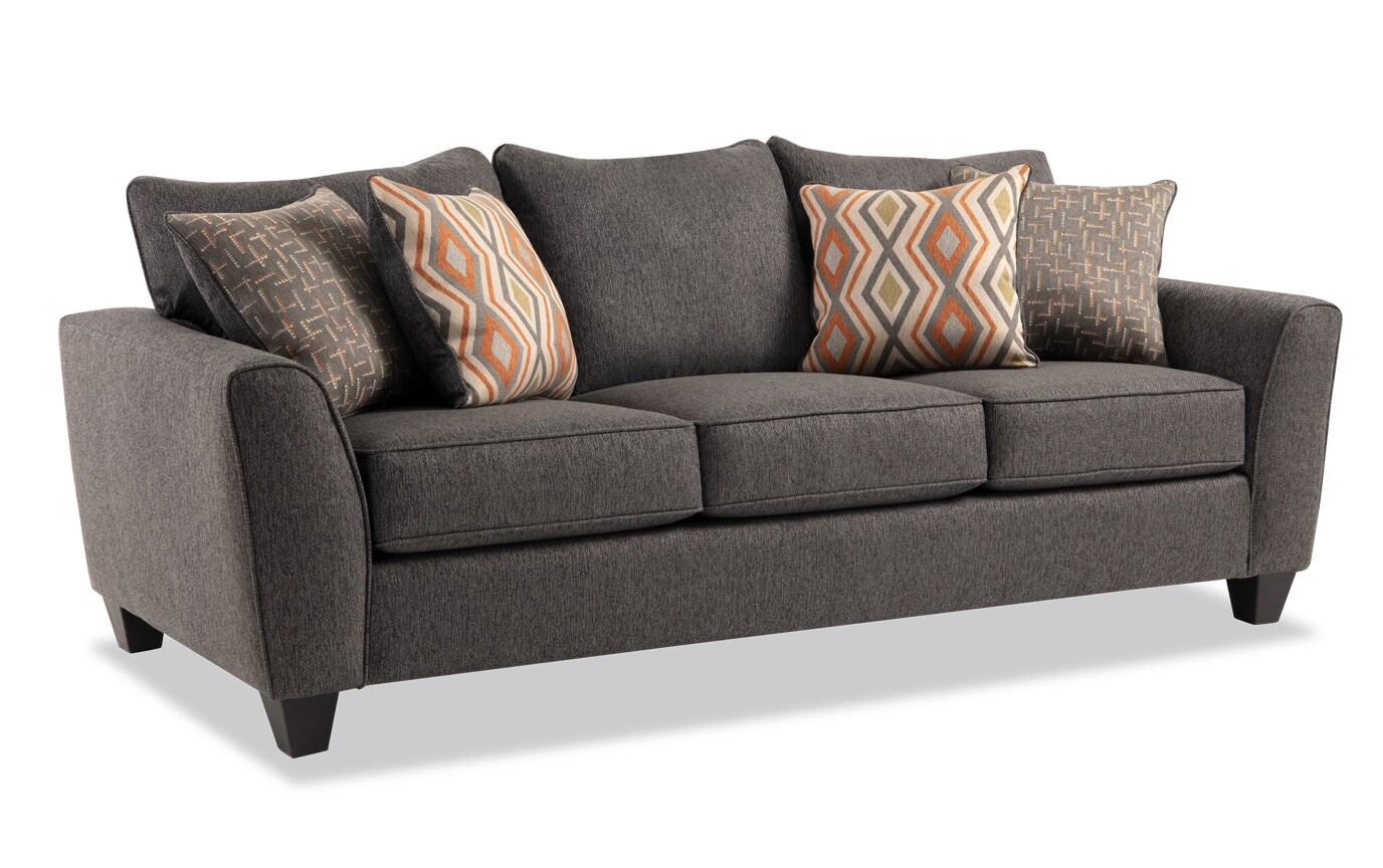 Capri Graphite Bob-O-Pedic Sleeper Sofa