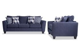 Capri Denim Sofa & Loveseat