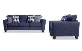 Capri Denim Sofa & Chair