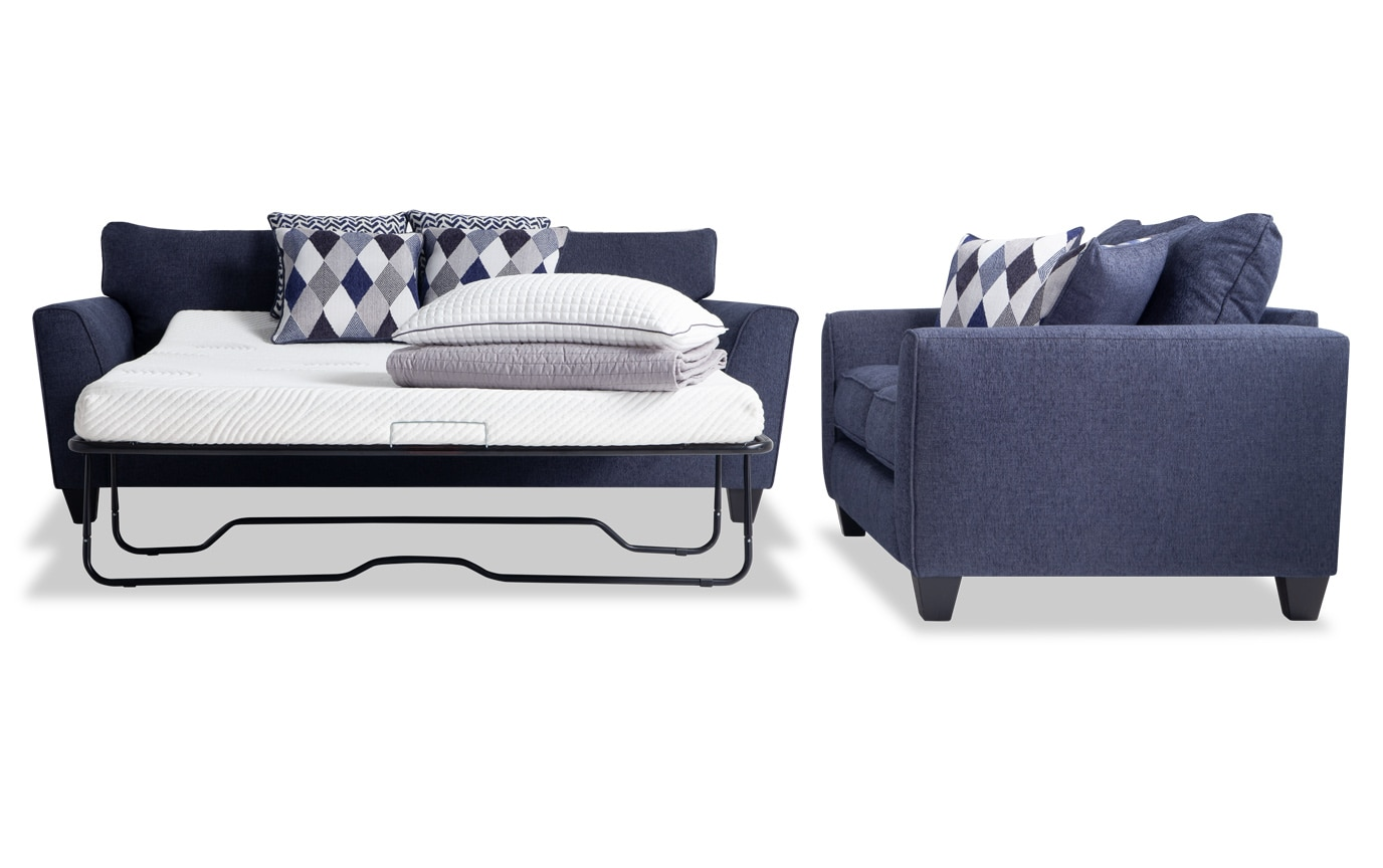 Capri Bob-O-Pedic Sleeper Sofa & Loveseat