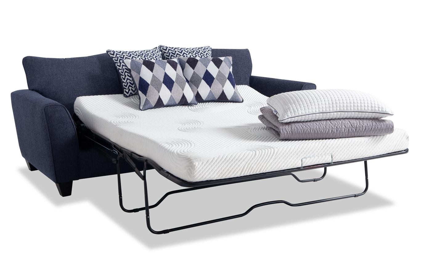 Capri Denim Bob-O-Pedic Sleeper & Chair