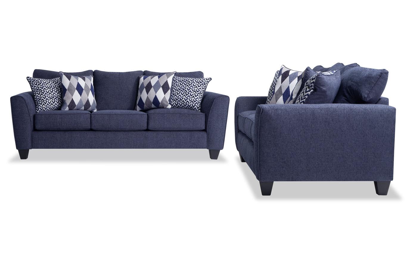 Capri Denim Sofa Set