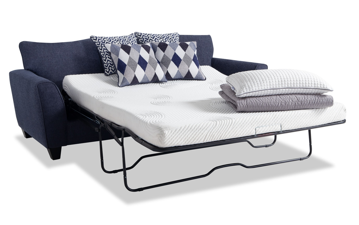 Capri Denim Bob-O-Pedic Sleeper Sofa