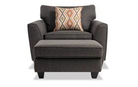 Capri Graphite Chair & Ottoman