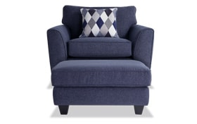 Capri Denim Chair & Ottoman