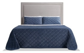 Tremont Full Gray Upholstered Headboard