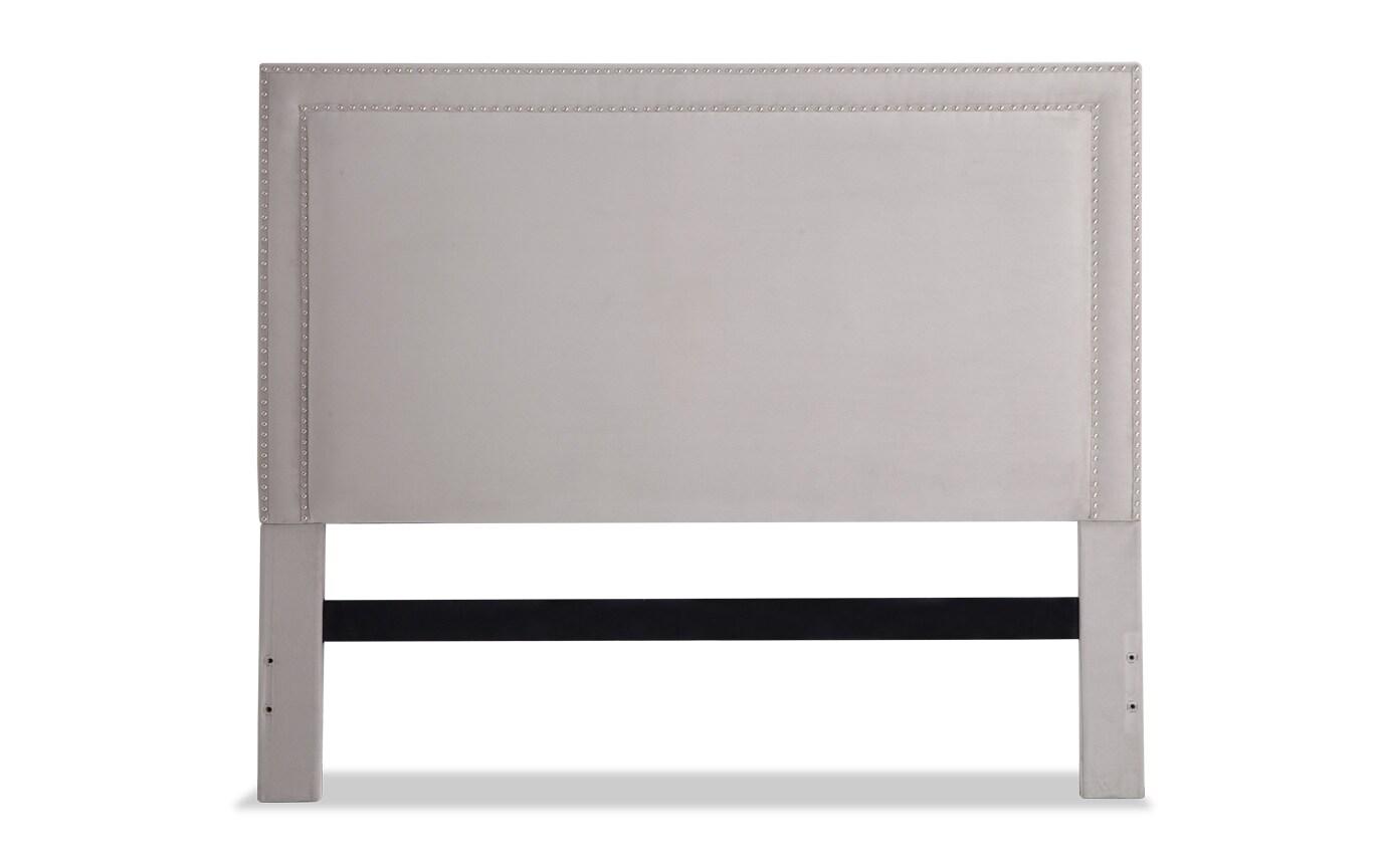 Tremont King Gray Upholstered Headboard