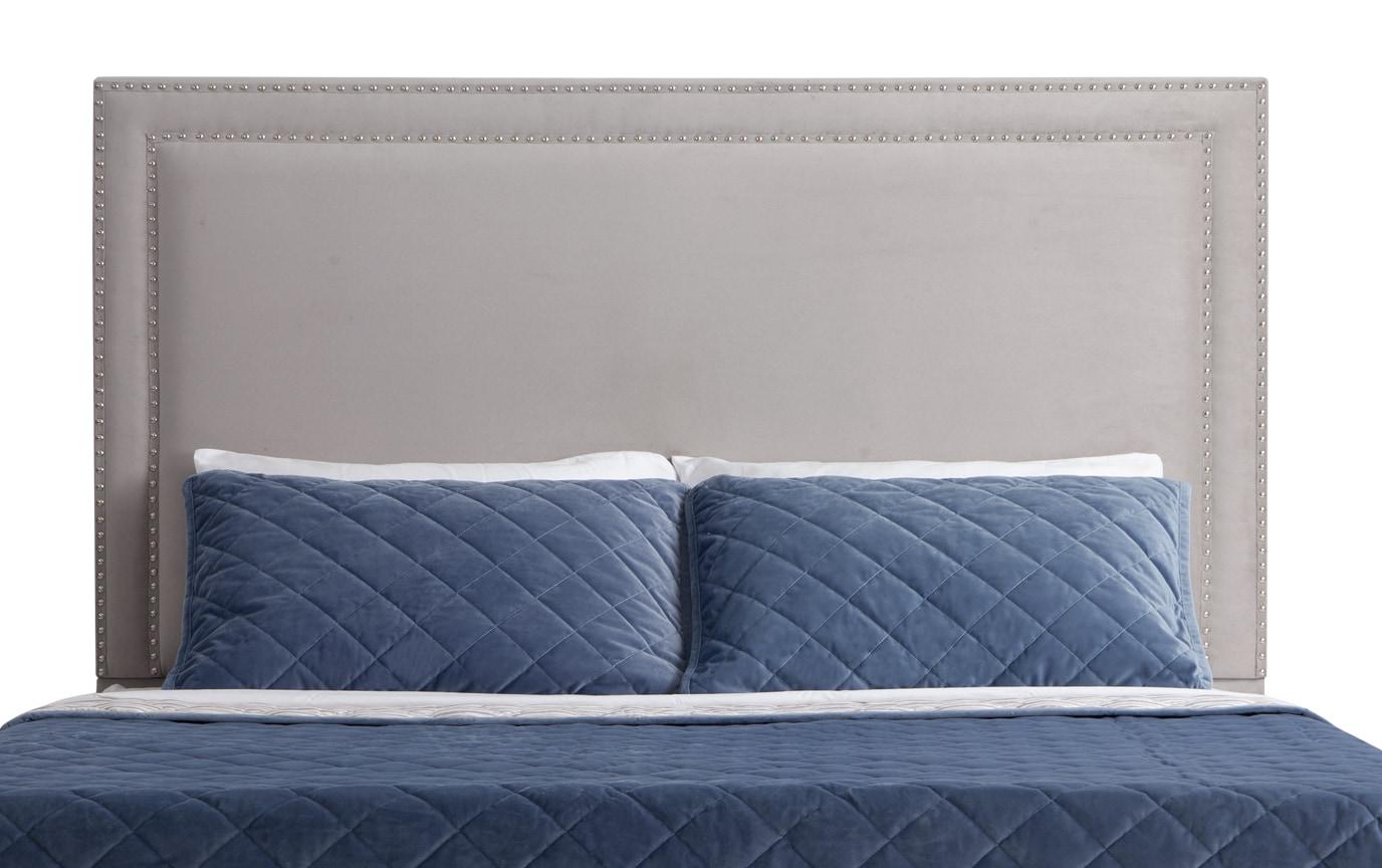 Tremont Queen Gray Upholstered Headboard