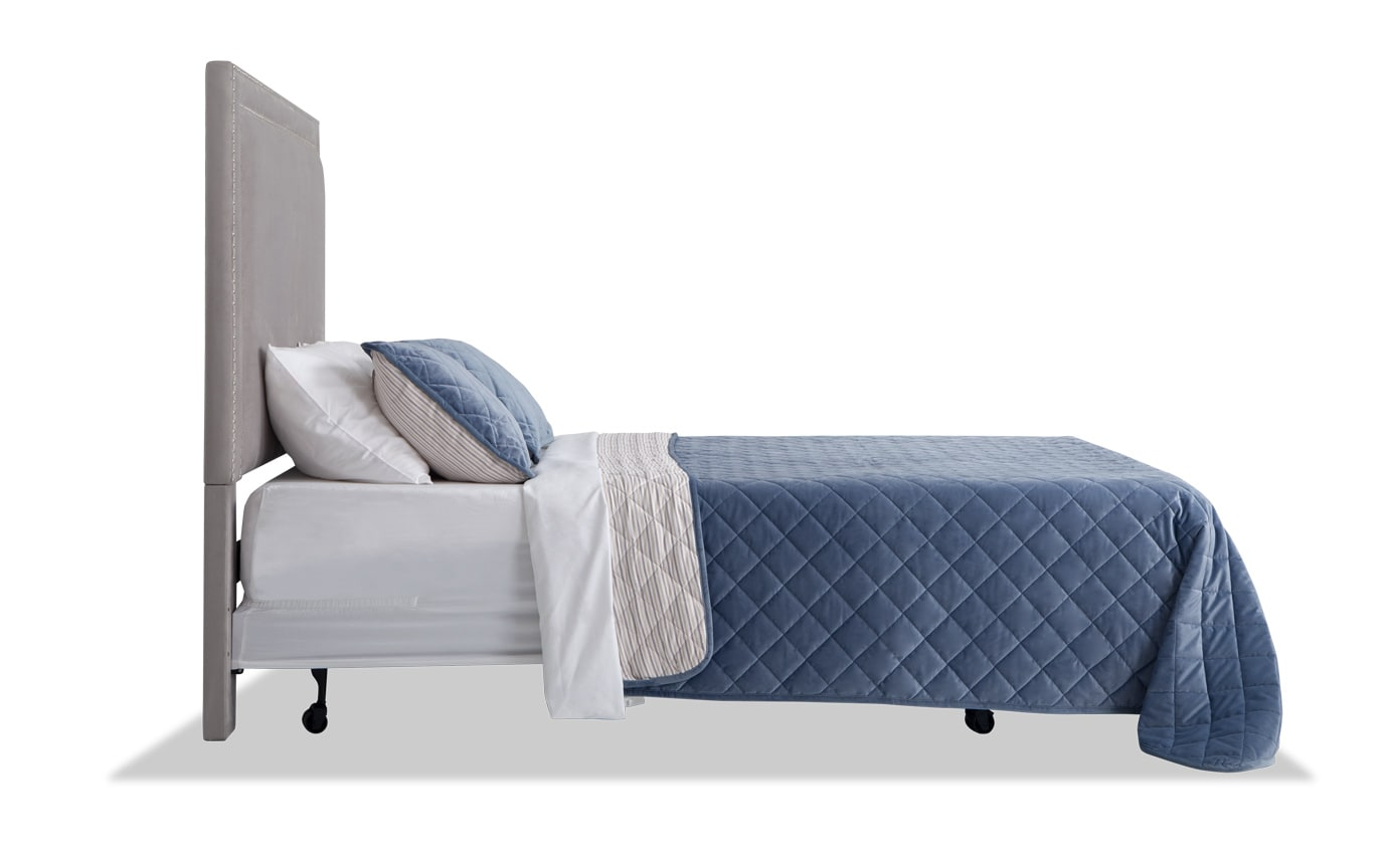 Tremont Twin Gray Upholstered Headboard