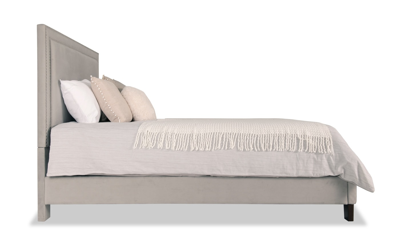 Tremont Twin Gray Upholstered Bed