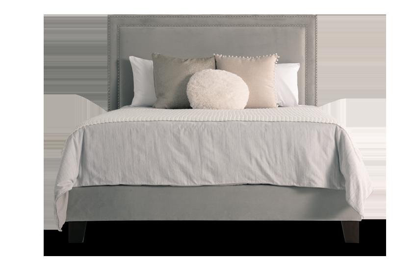 Tremont Full Gray Upholstered Bed