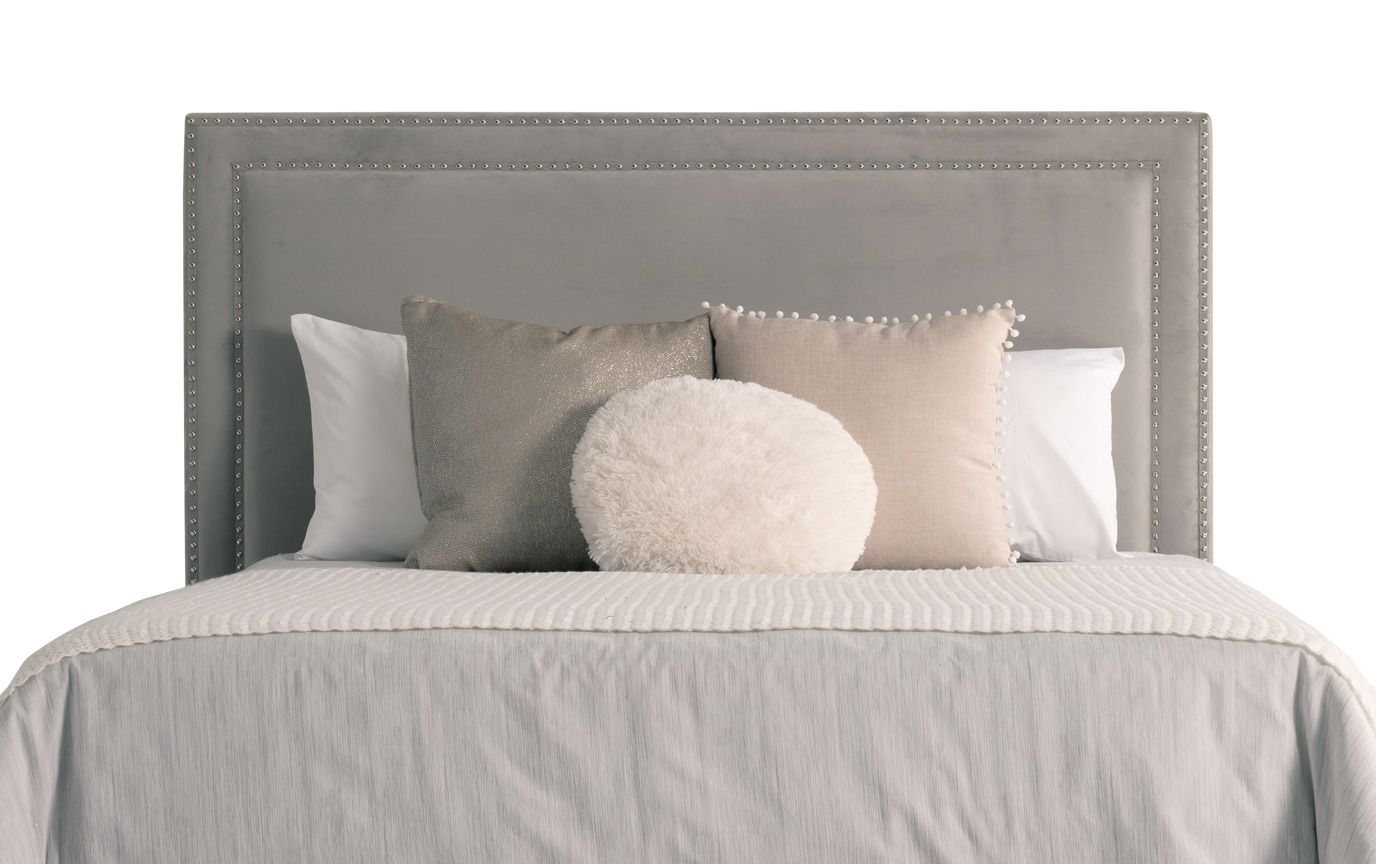 Tremont King Gray Upholstered Bed