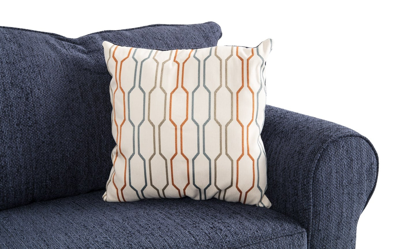 Emma Navy Right Arm Facing Sectional