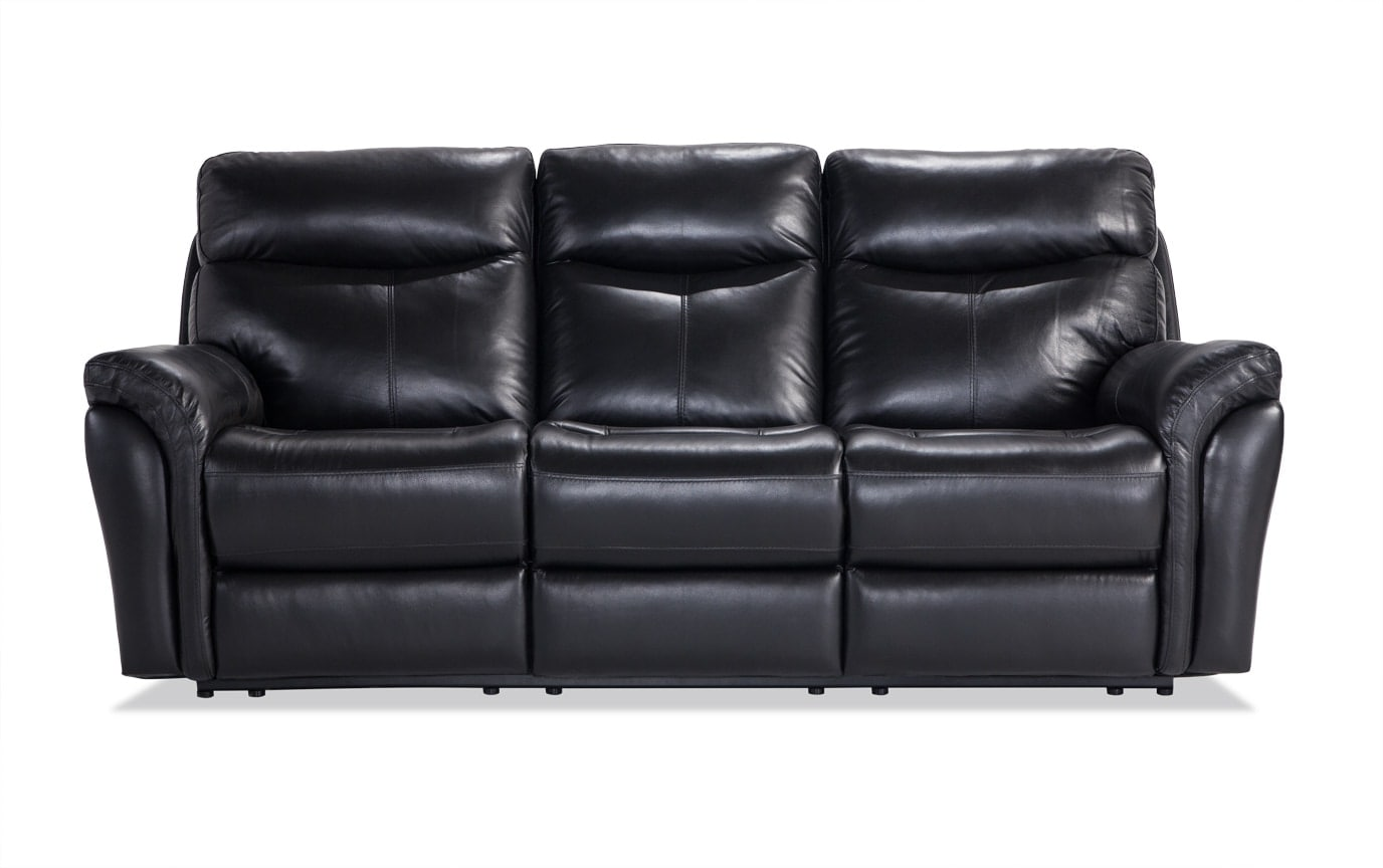 Dynamic Leather Power Reclining Sofa & Console Loveseat