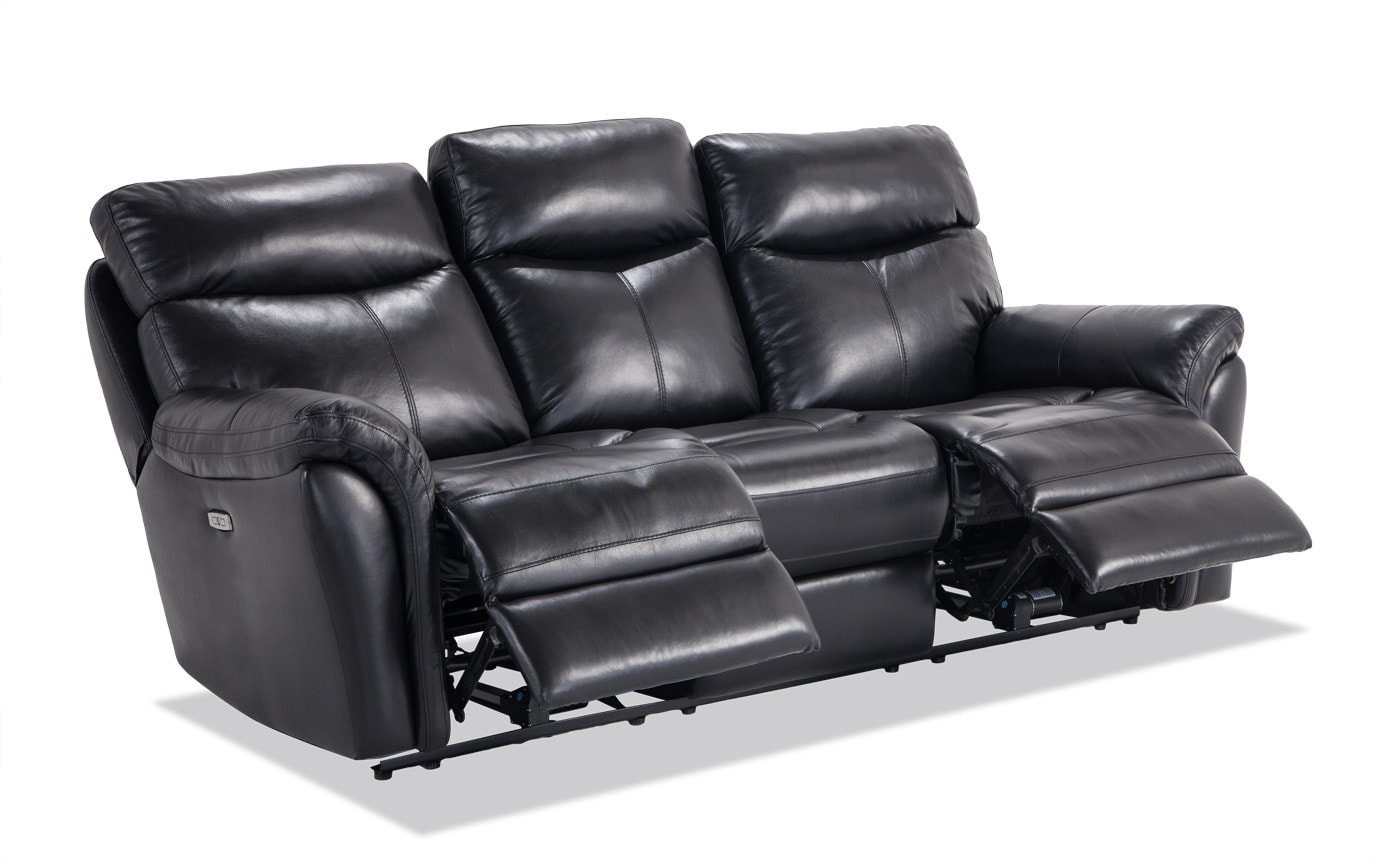 Dynamic Leather Power Reclining Sofa & Power Recliner