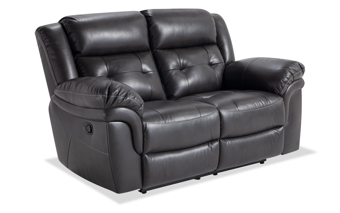 Navigator Gray Manual Loveseat