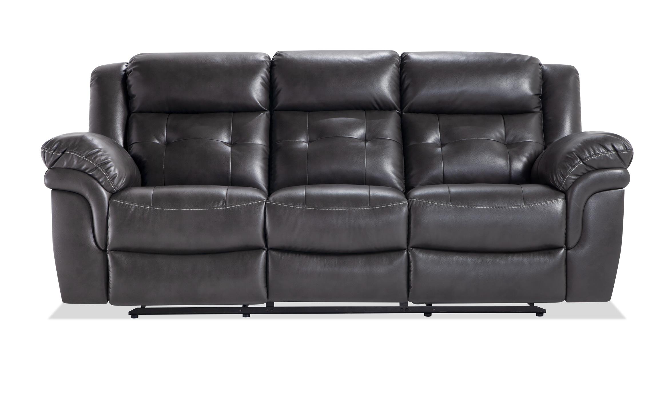 Navigator Gray Manual Reclining Sofa
