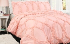 Oval Ruffle 2 Piece Twin Comforter Set
