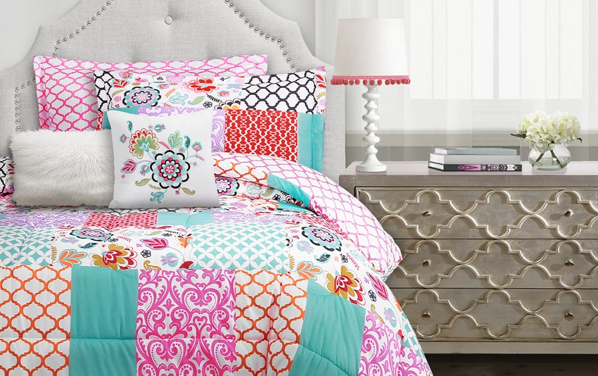 Bohemian Patchwork 5 Piece Twin Comforter Set