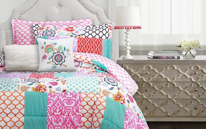 Bohemian Patchwork 5 Piece Twin Comforter Set
