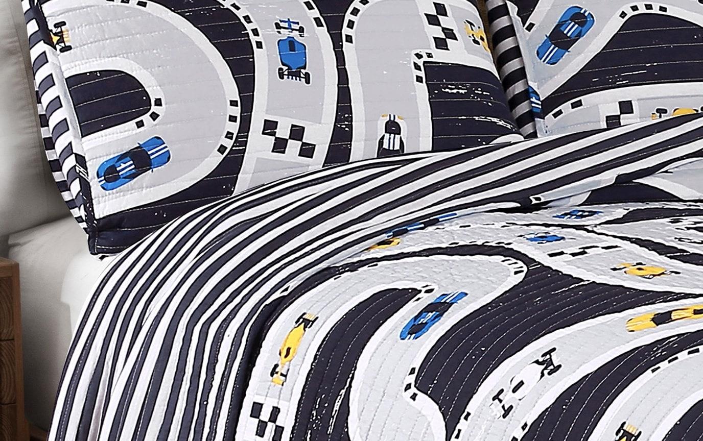Racetrack 2 Piece Twin Kids Quilt Set