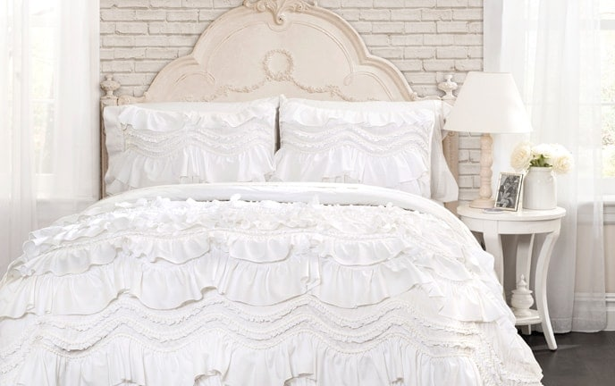 Ruffle 2 Piece Twin Quilt Set