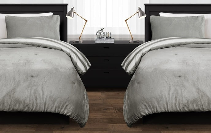 Hale Striped 2 Piece Twin XL Comforter Set