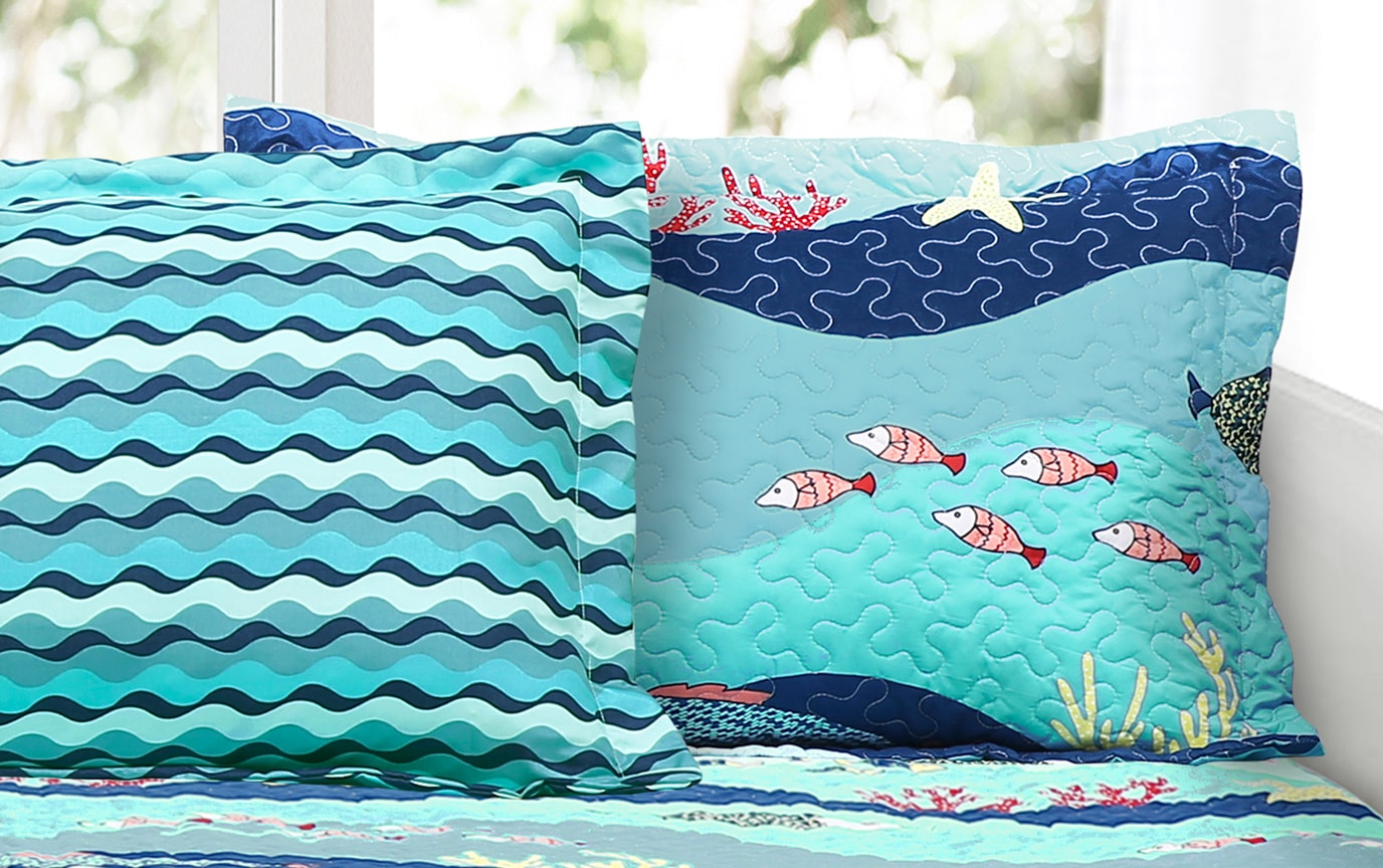 Ocean Life 6 Piece Daybed Cover Set