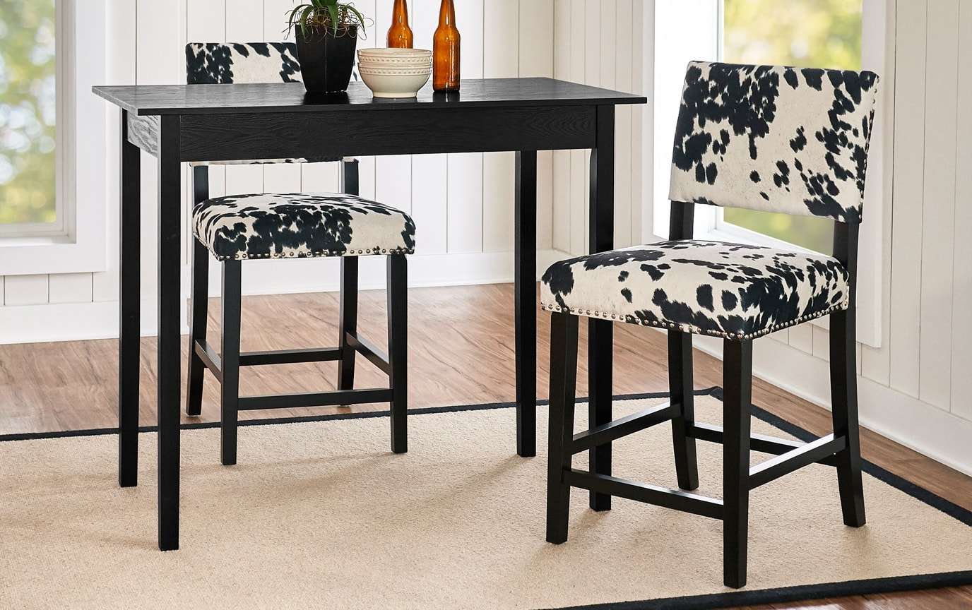 Theresa Cowprint Stool
