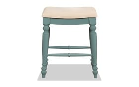 Frances Backless Blue Counter Stool