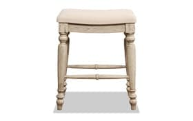 Frances White Counter Backless Stool