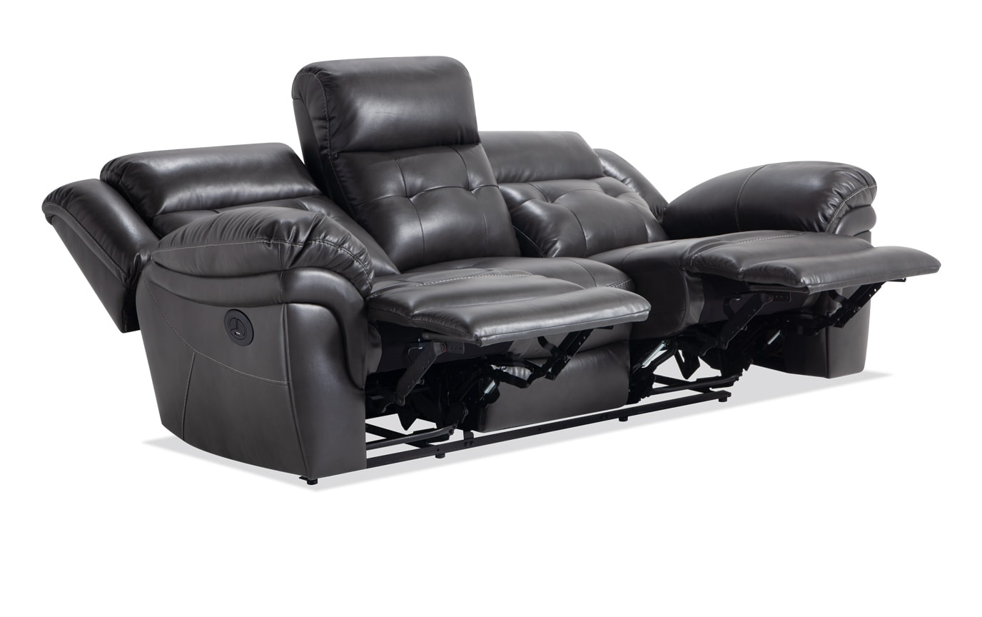Navigator Gray Power Reclining Sofa & Loveseat