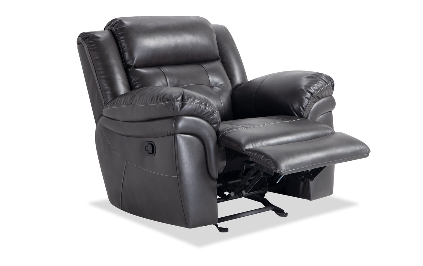 Navigator Gray Manual Reclining Sofa & Recliner